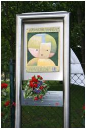Gedenktafel am Gelände des ehemaligen Sterbelagers